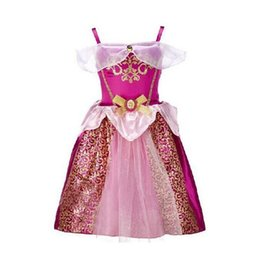 Wholesale Costume Children Cinderella - 2017 Baby Girls Cinderella Dresses Children Snow White Princess Dresses Rapunzel Aurora Kids Party Costume Clothes
