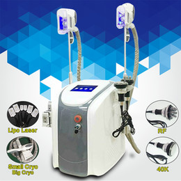 Wholesale cryo laser - Zeltiq Cryolipolysis Fat Freezing Machine Waist Slimming Cavitation RF Machine Lipo Laser 2 Cryo Heads Can Work At The Same Time CE DHL
