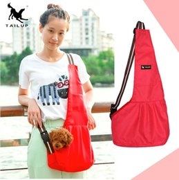 Wholesale Tents Dogs - Popular High Quality Dog Bag Oblique Cross Chest Pack Comfortable Oxford Cloth Dog Carrier Pets Supplies