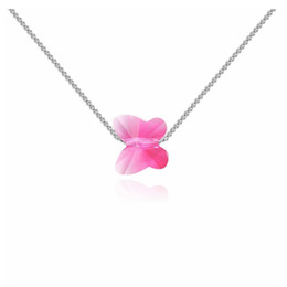 Wholesale swarovski charm love - Austria Crystal Necklace -- the love of butterfly dance Crystal from Swarovski for women and girls Gifts