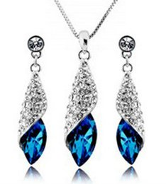 Canada Autriche boucles d'oreilles en cristal de diamant autrichien Set classique Swarovski Elements 7 couleurs en option de mariage Dinner Party bijoux cheap party jewelry Offre