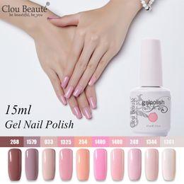 2019 gelmalerei Clou Beaute 10er Gel Lack Set UV Gel Nagellack Semi Permanent LED Lack Nagellack Soak Off Pink White Hybrid günstig gelmalerei