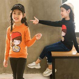 Muñecas para niña de 12 años online-3-12 y niña de niños jerseys suéteres niños otoño suéter de punto para niñas tops de invierno ropa 10 12 años muñeca de dibujos animados de impresión