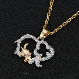 regali di giorno delle madri sveglie Sconti Collana regalo per la festa della mamma Collana femminile dei monili del pendente del metallo di cristallo dell'elefante dell'elefante delle donne sveglie di modo coreano