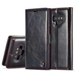 Casque flip folio en Ligne-Pour Samsung Galaxy Note 9, Note 8, s9 plus, s8 plus, s7 portefeuille en cuir