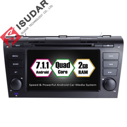 Wholesale Mazda Spain - Isudar Car Multimedia Player GPS Android 7.1 2 Din For MAZDA 3 CANBUS Quad Core DDR3 USB DVR Rear View Camera OBD2 Radio DAB