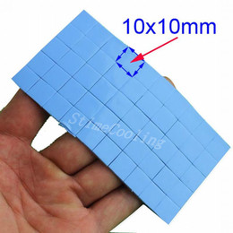 Wholesale Blue Compound - 50pcs set Mini IC Chip GPU Blue Silicone Conductive Compound 10x10x1mm Thermal Pad