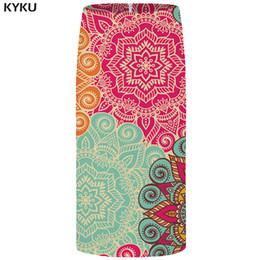 Jupe de partie coréenne en Ligne-KYKU Fleur Jupes Femmes Modèle Casual Party Jupe Crayon Coloré Belle Vintage Sexy Dames Jupes Femmes 2018 Coréen