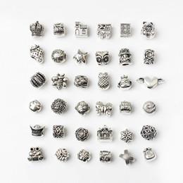 Canada 36PCS Style Mixte En Gros Alliage Perles Charms Pour Pandora DIY Bijoux Bracelets Européens Bracelets Femmes Filles Meilleurs Cadeaux cheap wholesale pandora style bracelet Offre