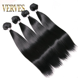 Wholesale blonde synthetic weave - VERVES 4 pack hair synthetic weaving 100g pack pure color braiding hair weft extentions blonde,black, burgundy