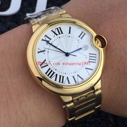 6 hombres de estilo Reloj de alta calidad de la marca 42mm W69006Z2 esfera blanca, caja de oro rosa, brazalete de acero, caballeros, deporte, reloj automático para hombre, relojes desde fabricantes