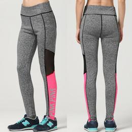 Moda Donna Lettera Stampa Allenamento Leggings Donna vita alta Plus Size Slim Fitness Legging Legging sportivo da