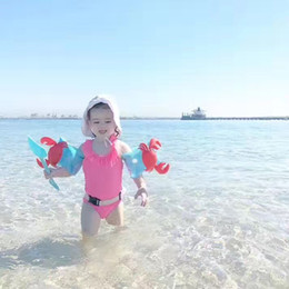 Wholesale Wholesale Float Tubes - Inflatable Arm Floating Children Flamingo Sleeves Swim Ring Armlets Circle Tube Ring Kid Swim Trainer Swimming Pool Accessories
