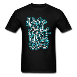 Botón de la camiseta de los hombres online-Marca de moda Camiseta Plus Size Graffiti Art Camisetas Hip Hop Hard Rock Camiseta para Hombres Lie Tshirt On Sale No Button Tops Tees