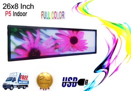 "Wholesale Scrolling Led Display Sign - 26""x8""indoor full color LED Sign Programmable Scrolling Message Display Board"