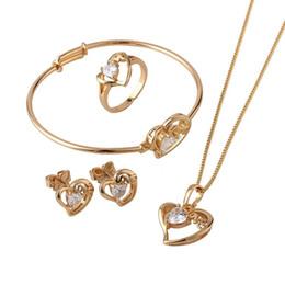 Ensembles de bijoux enfants plaqué or en Ligne-Ensembles de bijoux de coeur pour enfants plaqués en or 18K, bijoux pour enfants, ensembles de bijoux (S18K 50) de Bijoux sur Wish.com | Groupe Beautygeni.