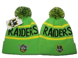 Wholesale Nationals Hats - 10 Colors Hotsale Men's Cheap NRL Pom-Pom Cuff Beanie Hats Sport National Rugby League Knitted Beanies Fashion Unisex NRL Beanie Caps