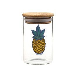 uv glasses Promo Codes - Smoking Dogo Herb stash jar hand blown 420 glass dank storage Small custom concentrate jar humboldt clothing co glass uv container dab 710