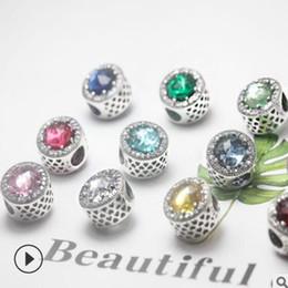 bracelet en or pandora 14k en gros Promotion Bijoux de marque de luxe S925 bracelet en argent sterling Bricolage perles simples perles en vrac mode chaud sans expédition