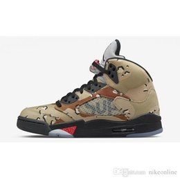 dark bronze NZ - Cheap Mens Jumpman 5 V basketball shoes 5s Sup Black White Camo Oreo Bronze Olympic Gold Metallic OG flights aj5 sneakers air boots with box
