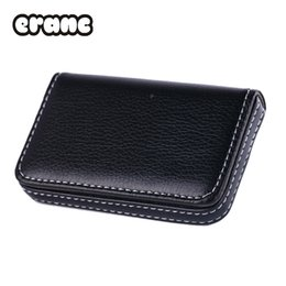 Wholesale Magnetic Business Cards Wholesale - New 2017 Exquisite Magnetic Attractive PU Leather Card Case Business Card Case Box Holder