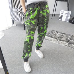 Wholesale Camouflage Trousers For Women - High Quality New 2017 Spring & Autumn Fashion Womens Army Camouflage Pants Sweatpants Cotton Waist Skinny Trousers For Women