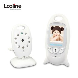 Wholesale Nightvision Ir - Wireless Video 2.0 inch Color Baby Monitor Security Camera 2 Way Talk NightVision IR LED Temperature Monitoring with 8 Lullaby