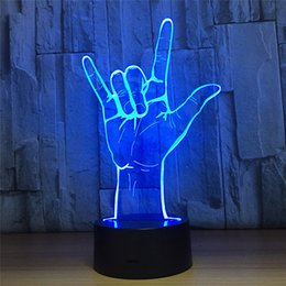 7 Colors Light Home Decoration Lamp Amazing Visualization Illusion Optical gesture pattern 3D LED Night Light da