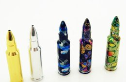 Wholesale Large Bullet - Creative, convenient, bullets, pipes, 90MM, multicolored, large size cartridge pipes.