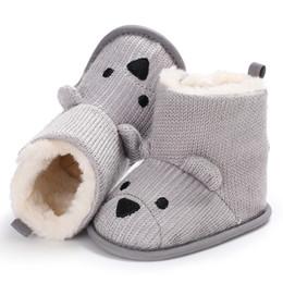 release date: e491d f18f2 Patrón de dibujos animados de invierno para bebés, más botas de nieve suave  de felpa cortas botas de invierno de felpa tibias negras