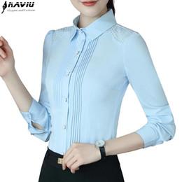 2017 elegante aushöhlen frauen shirt ol mode umlegekragen schlank chiffon  langarm bluse büro damen plus size tops rabatt ol chiffon blusen größe f2539b23f6