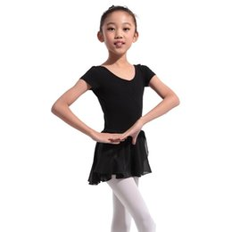 gonne da ginnastica Sconti New Girl Gymnastics Ballet Dance Dress Bambini 4-13Y Ballet Tutu Body Skirt Skate Dress