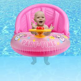 Bateau de flotteur de siège de natation de bébé gonflable avec l'eau d'été amovible de parasol ont l'amusement outil rose et bleu ? partir de fabricateur