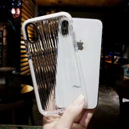 2019 welle iphone abdeckungen Wellenmuster Doppelfarbe Super Clear Transparent Telefon Fall für iPhone x Soft Tpu Silikon Rückseitige Abdeckung für Iphone 6 6P 7 8P günstig welle iphone abdeckungen