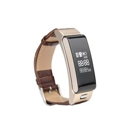 Wholesale Bluetooth Bracelet Headset - A9 Intelligence Conversation Bracelet Smart Sport Watch Bluetooth Headset Two-in-one Music Name Caller ID For IPhone X And Other Phones