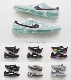 Wholesale Slip Basketball Shoes - 2018 Mens Running Shoes New VaporMax Man Sneakers Knitting trainers Athletic Sport Shoe Full palm air cushion basketball shoes