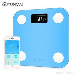 Wholesale bmi fat - YUNMAI Mini Smart Body Fat Electronic LCD Digital Weight Scale with App Smart Weighing Scale Digital Body Fat BMI Scale Android and IOS