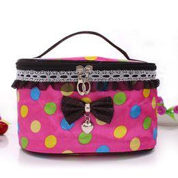 Wholesale Wholesale Retro Handbag - New Makeup Cosmetic Bags Retro Beauty Wash Case Zipper Handbag Makeup Bags