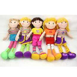 Wholesale Wells Toys - Well Dressed Kids Sleeping Girl Sweet Cute Princess Appease Dolls Baby Plush Stuffed Educational Toys Birthday Christmas Gifts