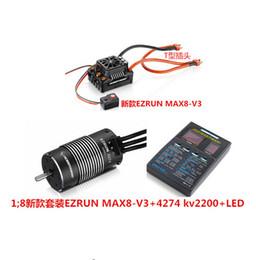 Cartes de programme en Ligne-Pièces Accessoires Hobbywing EzRun Max8 v3 Prise T / TRX Imperméable ESC 150A ESC ESC brushless +4274 Moteur 2200KV Carte de programme LED pour 1: 8