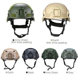 2019 casco del ejército del airsoft Casco de caza al aire libre CS SWAT MH Airsoft Paintball Base Jump Casco táctico protector con visión nocturna Sport Camera Mount