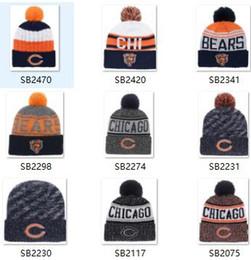 2019 chapeaux en tricot pour enfants en gros Bonnet sport en tricot Bonnet Sideline Chapeaux temps froid Bonnets CHICAGO Bonnets CHI hiver chauds en laine