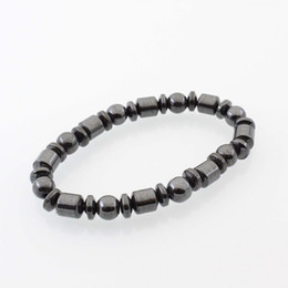 Wholesale Magnet Bracelet Clasp Crystal - Hot Selling New Beautiful Popular Black Stone Magnetic Magnet Bracelet Hematite Bracelet Black Stone Magnet Bracelet HJ175