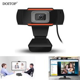 Wholesale chat mic - DOITOP 480P 12.0MP Rotatable HD Webcams 640*480 Video Chat Camera PC Web Cam Camera with Mic Microphone For Laptop Skype TV