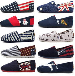 5e32493270df Canvas Slip-On Flats Couple Boat Shoes Lazy Shoe Loafers Espadrilles  Comfortable Striped Printed Casual Shoes OOA5183