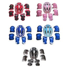 Iguardor 7pcs Patines de hielo Equipo de protección Casco de bicicleta Deportes Equipo de ciclismo de seguridad Set para 5 -13 años-Niños viejos -Rojo desde fabricantes