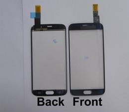 Schermo di flessione online-1 pz 100% testato buon vetro frontale con cavo flessibile touch screen per bordo S6 bordo G925 / bordo S6 più / bordo S7 G935 bianco / nero