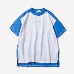 Wholesale Color Block Tee Shirts - 2018 Summer Streetwear Hip Hop T-Shirt Casual Tee Shirt Block of Color Of Patchwork Hi - End Fashion Mens Short Sleeve T-Shirts