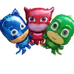 Bande dessinée en aluminium ballons décorations de fête pour enfants enfants masque pj gonflable jouets fournitures de fête ? partir de fabricateur