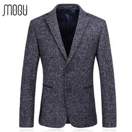 6bee320ef1e MOGU Casual Blazer Men Spring New Arrival Fashion Woolen Men s Blazer 2017 Slim  Fit Suit Jacket For Male Asian Size Men s Jacket